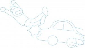 交通事故や鈍的外傷も原因